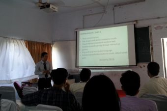 Mr. Nhon Dang delivered a presentation at the eighth joint GLoCALL 2014 International Conference in India