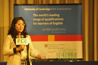 TTU Student shines among topten at Cambridge English Speaking Competition 2012
